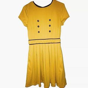 ModCloth   Fervour Yellow Button Dress